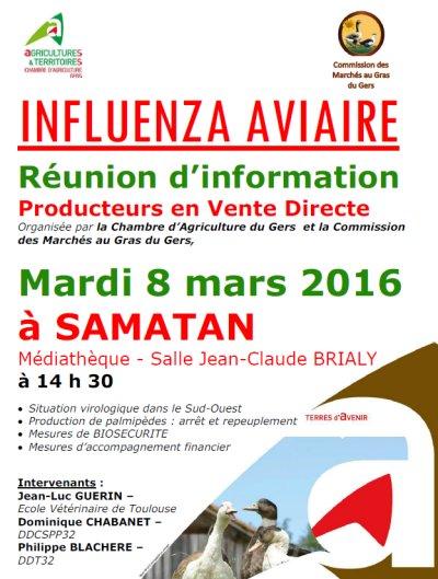 Réunion d'information Samatan le 8 mars 2016